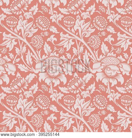 Chrysanthemum flower pattern ornament background