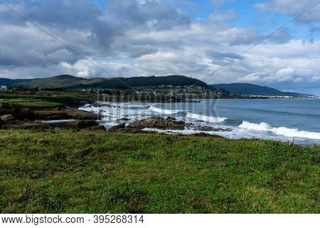 A View Of The Cantabrian Sea And The Rough Coastline In Galicia Near Foz