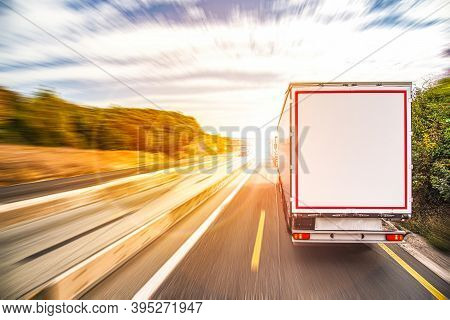Truck On The Road, Transport Logistics . Truck Awaiting Loading Or Unloading, Transport Logistics