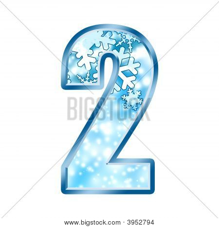 Winter Alphabet Number 2 Two