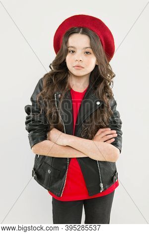 Rock And Roll Is Way Of Life. Outfit Ideas Every Stylish Girl Should Try. Girl Curly Hair Wear Leath