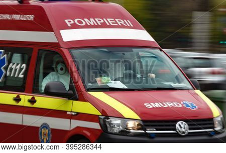 Bucharest, Romania - November 12, 2020: An Emergency Service For Resuscitation And Extrication, Shor