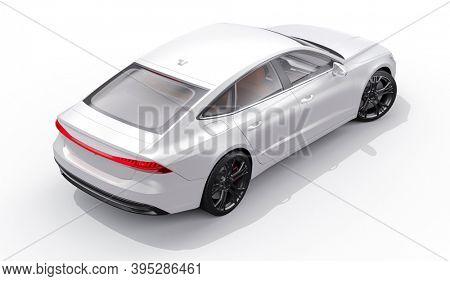 3d render of beautiful sport car