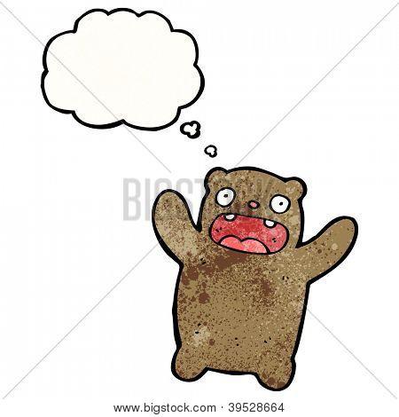frightened bear cartoon poster