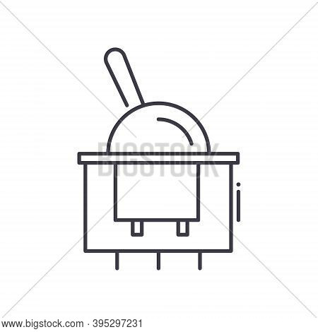 Toggle Switch Icon, Linear Isolated Illustration, Thin Line Vector, Web Design Sign, Outline Concept