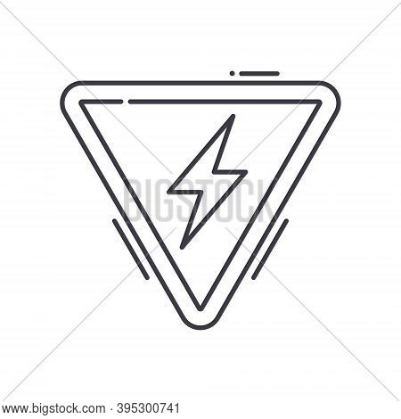Threat Icon, Linear Isolated Illustration, Thin Line Vector, Web Design Sign, Outline Concept Symbol