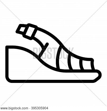 Beauty Sandals Icon. Outline Beauty Sandals Vector Icon For Web Design Isolated On White Background