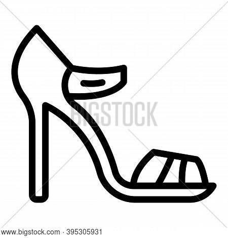 Ankle Sandals Icon. Outline Ankle Sandals Vector Icon For Web Design Isolated On White Background