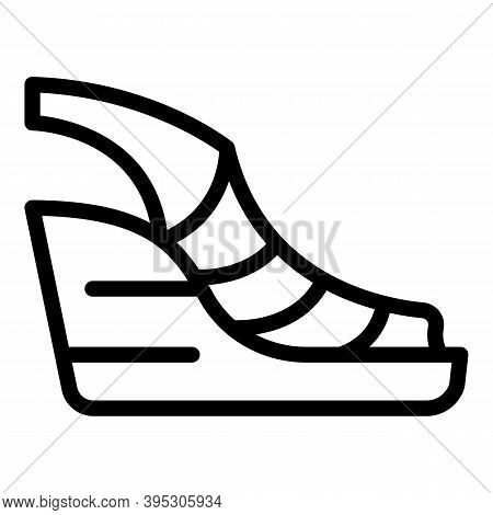 Everyday Sandals Icon. Outline Everyday Sandals Vector Icon For Web Design Isolated On White Backgro
