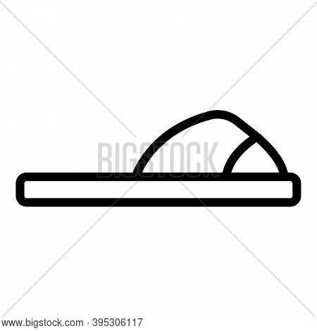 Soft Sandals Icon. Outline Soft Sandals Vector Icon For Web Design Isolated On White Background