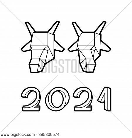 Impossible Font And Ox Head Happy New Year 2021