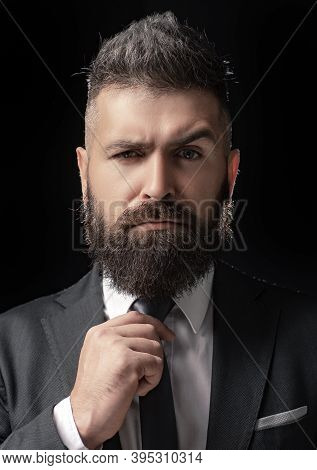 Classic Costume And Trend. Rich Bearded Man Dressed In Classic Suits. Elegance Casual Dress. Fashion