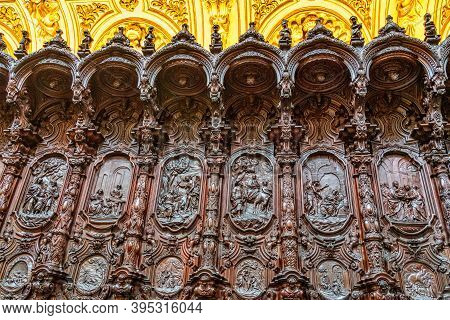 Amazing Choir By Pedro Duque Cornejo In The Mezquita Cathedral Of Cordoba. Andalusia, Spain