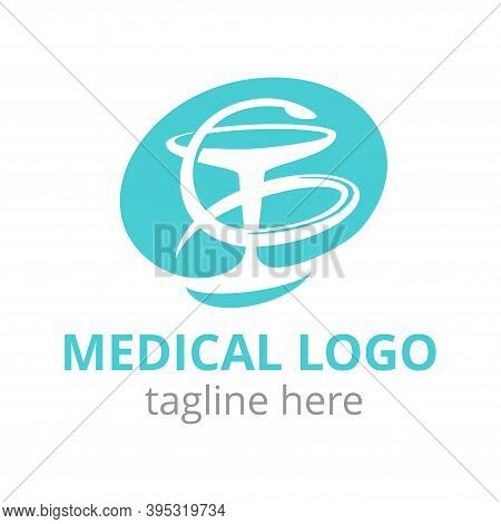 Medical Abstract Flat Logo For Medicine Center, Pharmacy, Private Hospital With Symbol Of Medicine -