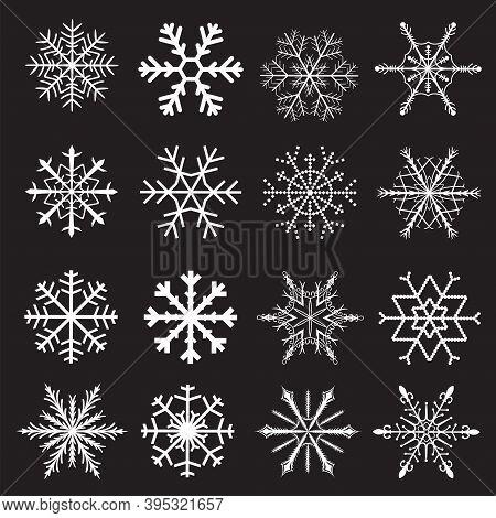 Vector Snowflakes. Set Of Vector Snowflakes, Eps Snow Flake