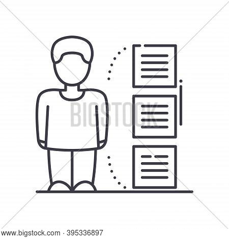 Consumer Behaviour Analysis Icon, Linear Isolated Illustration, Thin Line Vector, Web Design Sign, O