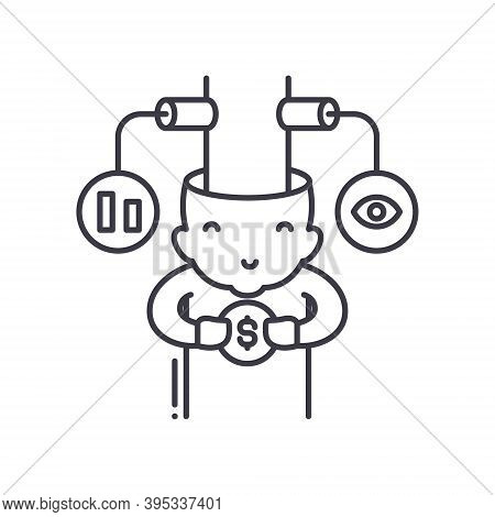 Consumer Behaviour Icon, Linear Isolated Illustration, Thin Line Vector, Web Design Sign, Outline Co