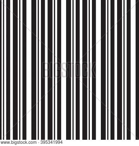 Seamless Pattern With Black Vertical Stripes. Good Calm Design For Scrapbooking Or Wrapping Paper.