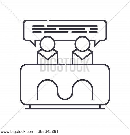 Consensus Icon, Linear Isolated Illustration, Thin Line Vector, Web Design Sign, Outline Concept Sym