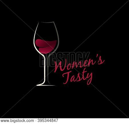 Wine Logo Goblet Concept For Wine Tasting Competitions And Wine Cellar Logotype Concept. Simple Desi