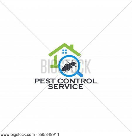 Pest Control Service Logo Concept. Prevention, Extermination And Disinfection Of The House From Inse