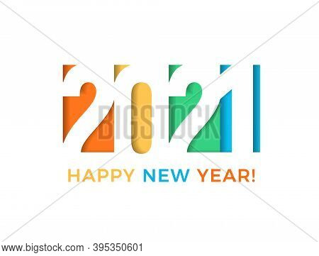 2021 Colored Card For Seasonal Holidays. Happy New Year Flyer, Greetings And Invitations Cards, Cong