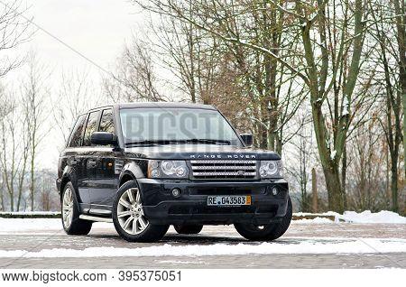 Grodno, Belarus, December 2012: Land Rover Range Rover Sport V8 Supercharged. Three Quarter View Of