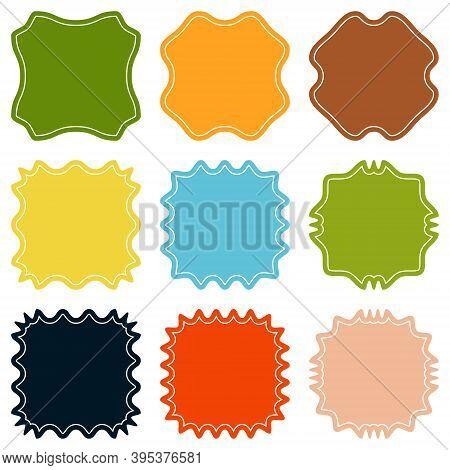 Set Template Sunburst, Shapes Badges Vector Starburst Promo Burst, Design Sticker Promo Burst Badge,