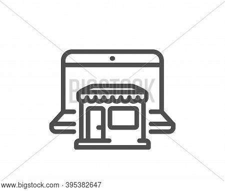 Marketplace Line Icon. Online Shop Sign. Retail Store Symbol. Quality Design Element. Linear Style M