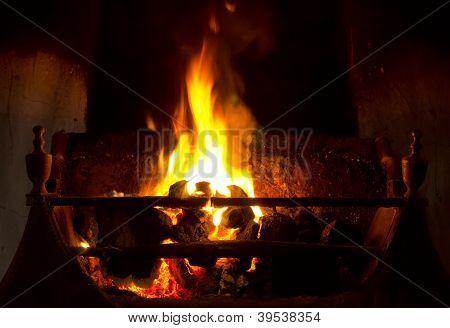 Open Coal Fire