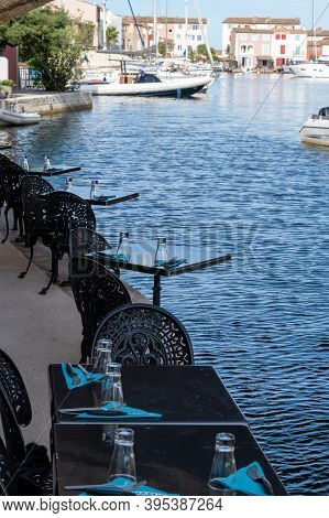 View On Houses, Roofs, Canals And Boats In Port Grimaud, Var, Provence, France