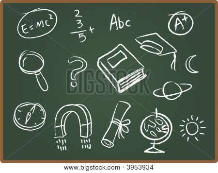 School Drawing Chalk Board 1
