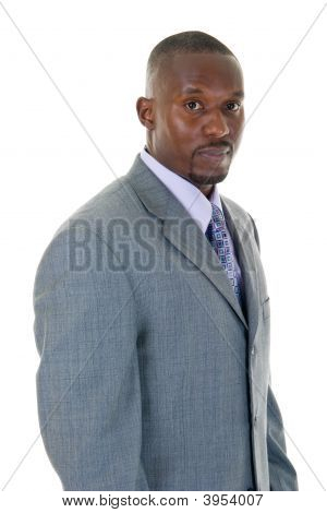 Business Man In Gray Suit