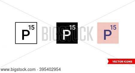 Phosphorus Icon Of 3 Types Color, Black And White, Outline. Isolated Vector Sign Symbol.