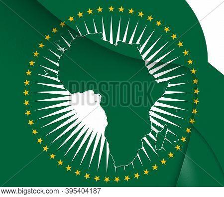 3d Flag Of African Union. 3d Illustration.