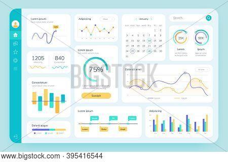 Dashboard Ui. Simple Data Software, Chart And Hud Diagrams, Admin Panels. Modern Financial Applicati