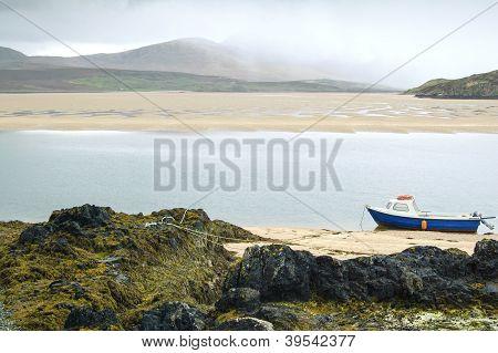 Kyle Of Durness Balnakeil Bay Beach. Highlands Of Scotland