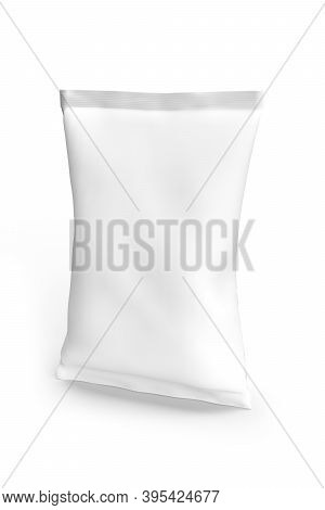 Food Bag Mockup Isolated On White Background - 3d Render