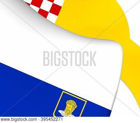 3d Flag Of Goirle (north Brabant), Netherlands. 3d Illustration.