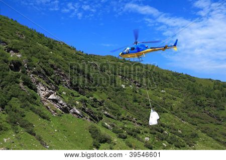 Helicopter With Bag