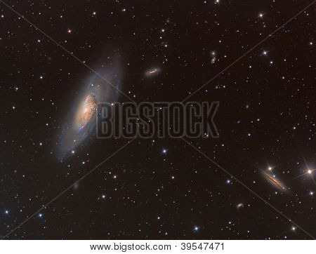 M106 Spiral Galaxy In Constellation Canes Venatici