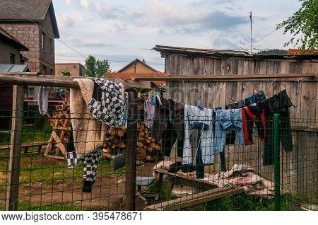 5/16/2018. Lomnicka, Slovakia. Roma Or Gypsy Community In The Heart Of Slovakia, Living In Horrible
