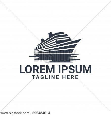 Boat Logo. Yacht Logo. Cruise Ship Logo. Yacht Vector. Boat Vector. Ship Vector. Ship Logo Design. B