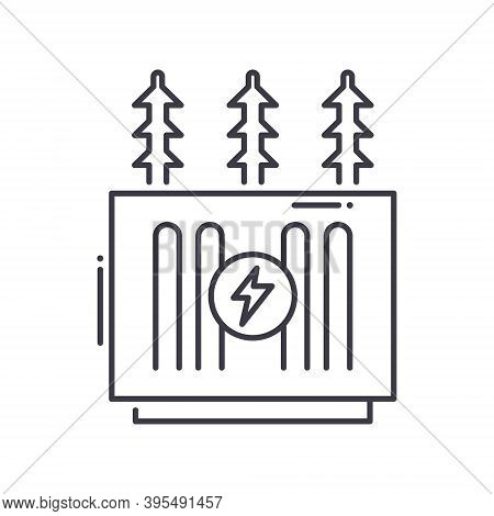 Transformer Icon, Linear Isolated Illustration, Thin Line Vector, Web Design Sign, Outline Concept S