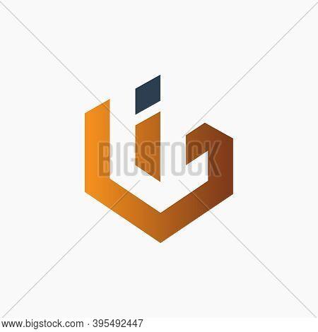 Modern Bi Letter Monogram Logo Design Or Brand