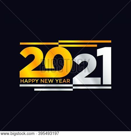 Number 2021 Happy New Year In Modern Style. The Year 2021 Design Vector For Element Design. Vector I