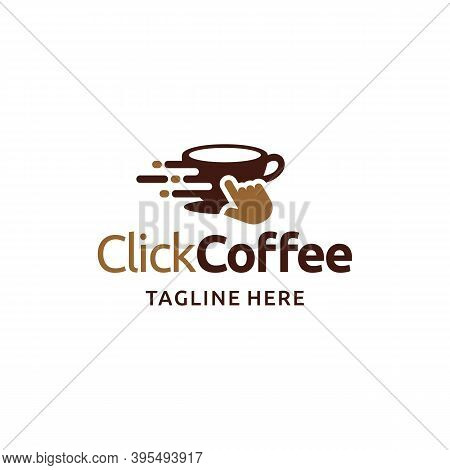 Click Coffee Logo. Coffee Cup Technology. Branding For Cafes, Cofeeshop, Restaurants, Beverages, Eat