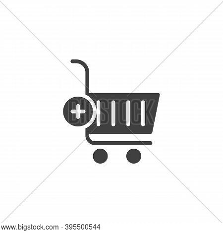 Add To Shopping Cart Vector Icon. Filled Flat Sign For Mobile Concept And Web Design. Add To Purchas