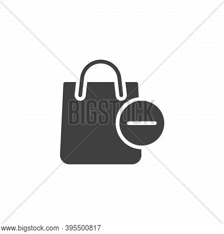 Delete From Shopping Bag Vector Icon. Filled Flat Sign For Mobile Concept And Web Design. Shopping B