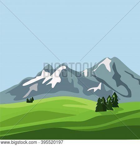 International Mountain Day. Everest Mountain Landscape Nature Outdoor, For Mountain Logo Design. Hig